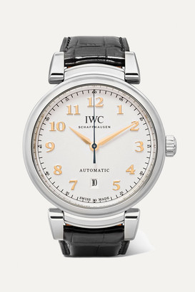 IWC SCHAFFHAUSEN - Da Vinci Automatic 40mm Stainless Steel And Alligator Watch - Silver