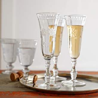 Williams-Sonoma Williams Sonoma Vintage Etched Champagne Flutes
