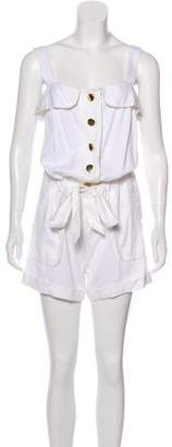 Milly Ruffled Tie-Front Romper w/ Tags