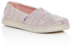 Toms Girls' Alpa Glitter Slip-On Sneakers - Toddler, Little Kid, Big Kid