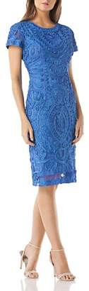 JS Collections Embroidered Soutache Dress