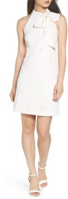Vince Camuto Bow Neck Crepe Dress