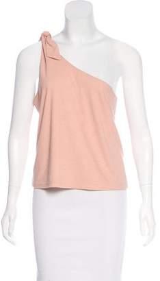 Ganni One-Shoulder Sleeveless Top