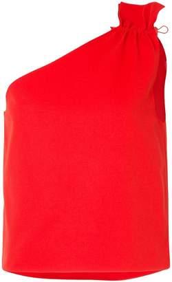 Goen.J one-shoulder ruched blouse