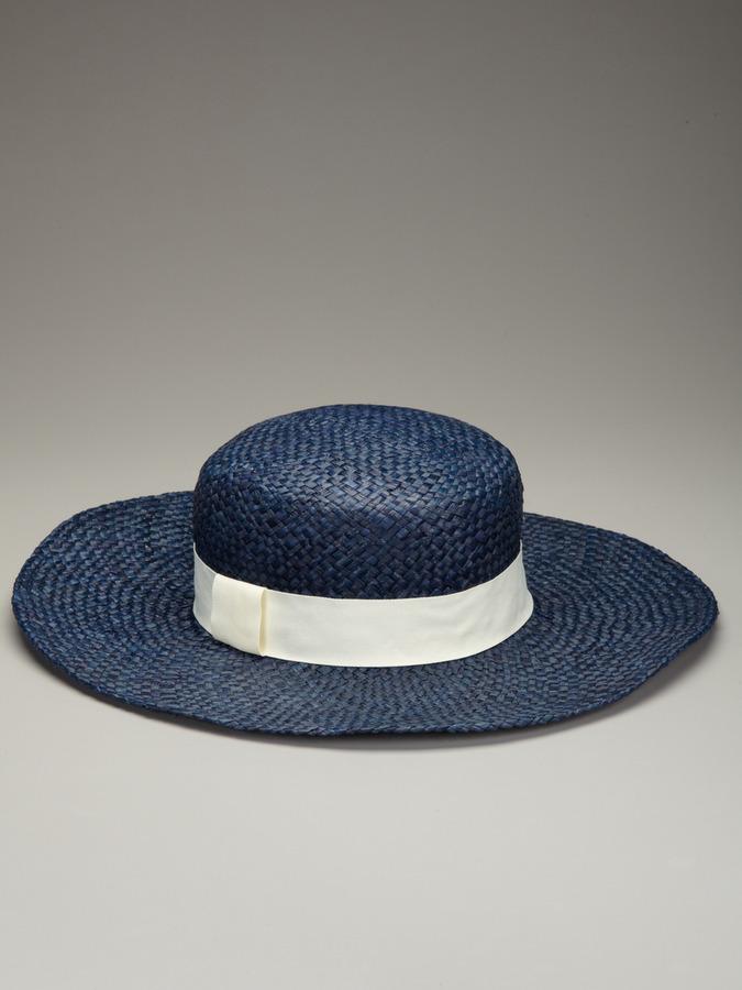 Hat Attack Woven Raffia Beach Boater Floppy Hat