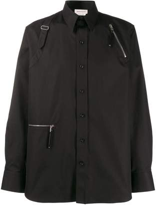 Alexander McQueen buckle harness shirt