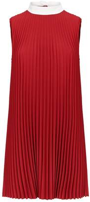 RED Valentino Pleated High-Neck Dress