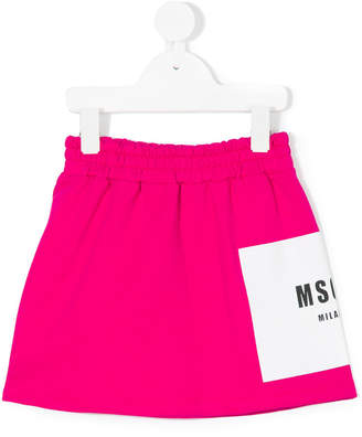 MSGM logo elasticated skirt