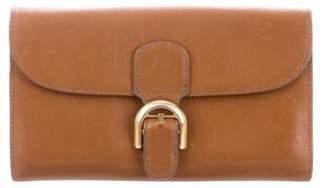 Delvaux Leather Flap Wallet