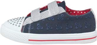 Board Angels Girls Broderie Anglaise Pumps Navy/Red