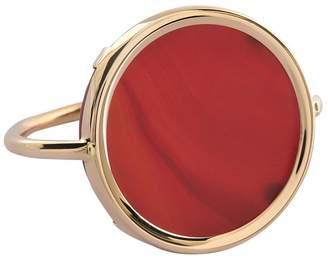 ginette_ny Cordoba-Carnelian Disc Ring