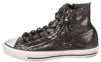 John Varvatos Converse by Metallic High-Top Sneakers
