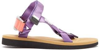 Suicoke Depa Cab Velcro Sandals - Mens - Purple Multi