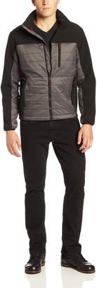 Hawke & Co Men's Hybrid Down Puffer and Softshell Jacket