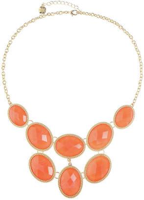 MONET JEWELRY Monet Jewelry Womens Orange Statement Necklace