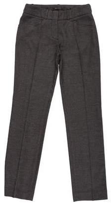 BCBGMAXAZRIA Mid-Rise Straight-Leg Pants