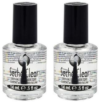 Seche Lot 2 Base Vite Coat Salon Quality Nail Treatment Polish Crystal Dry by