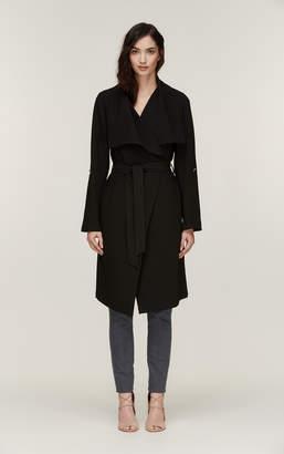 Soia & Kyo ORNELLA knee length coat with cascade draped collar