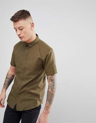 ONLY & SONS Short Sleeve Linen Shirt
