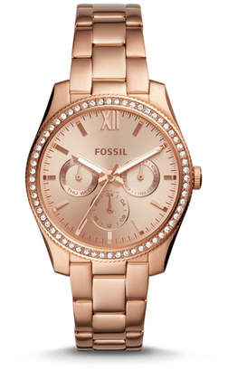 Fossil Scarlette Multifunction Rose Gold-Tone Stainless Steel Watch