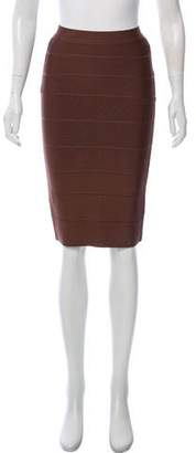 Herve Leger Knee-Length Bandage Skirt