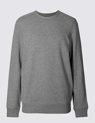 Marks and Spencer Big & Tall Pure Cotton Crew Neck Sweatshirt