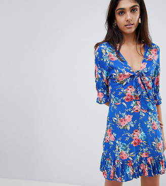 Parisian Tall Floral Tea Dress With Tie Front