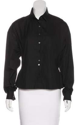Alaia Button-Up Long Sleeve Top