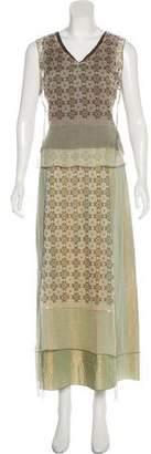 Rozae Nichols Mesh-Paneled Midi Skirt Set