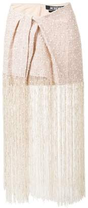 Jacquemus fringed skirt