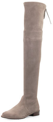 Stuart Weitzman Lowland Suede Over-The-Knee Boot $798 thestylecure.com