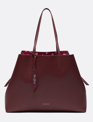 Draper James Leather Reversible Tote