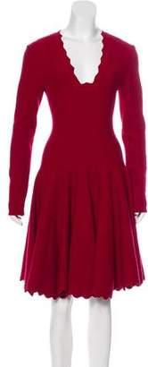 Alaia Textured Knee-Length Dress w/ Tags