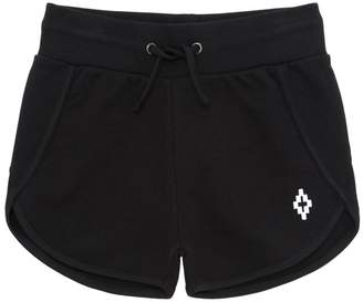 Marcelo Burlon County of Milan Logo Detail Cotton Sweat Shorts