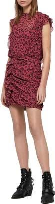 AllSaints Hali Roar Animal Print Minidress