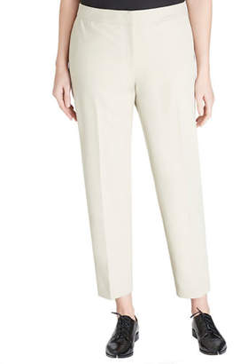 Lafayette 148 New York Front-Zip Slim Ankle Pants, Plus Size