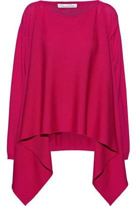 Oscar de la Renta Draped Wool Sweater