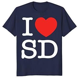 Dakota I Love SD South Heart Funny Gift T-Shirt