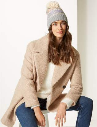 Marks and Spencer Stitched Pom Beanie Hat