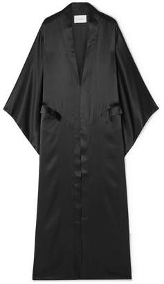 Leone we are Silk-charmeuse Kimono - Black