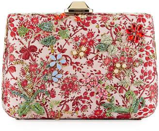 Giambattista Valli Jacquard Peonia Clutch Bag, Pink Pattern
