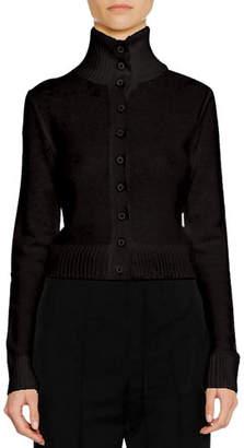 Jil Sander Turtleneck Button-Front Wool-Blend Cardigan