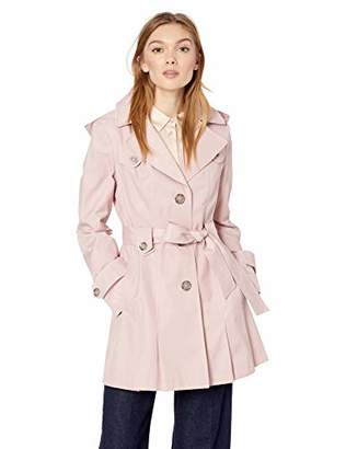 20dead32b4e Via Spiga Women s Single-Breasted Belted Trench Coat with Hood