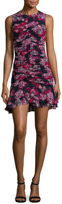 Camilla And Marc Grenadine Ruched Floral Mini Dress