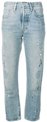 Levi's Made & Crafted embroidered detail cropped jeans