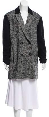 Tibi Wool Double-Breasted Coat