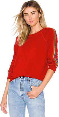 Monrow x REVOLVE Vintage Rainbow Stripe Raglan Sweatshirt