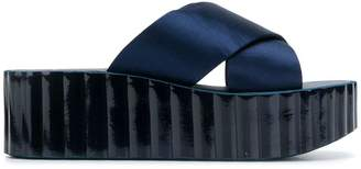 Tory Burch flatform crossover strap sandals