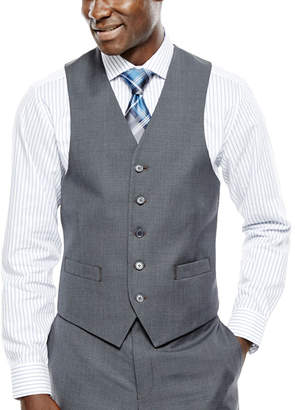 COLLECTION Collection by Michael Strahan Gray Weave Suit Vest - Classic Fit