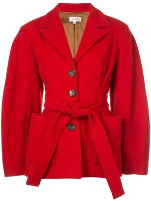 Isa Arfen belted fitted coat